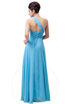 Vestido de noche Elegante Sin mangas Blusa plisada Natural Cordón Cola Barriba