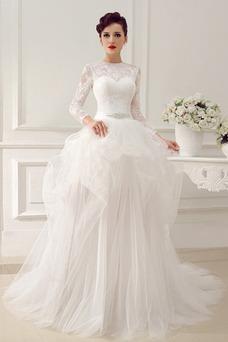 Vestido de novia Clasicos Otoño Asimètrico Cristal largo Cremallera
