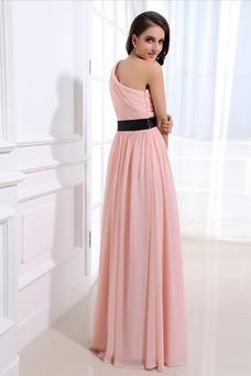 Vestido de dama de honor Delgado Sin mangas Corte-A Espalda medio descubierto