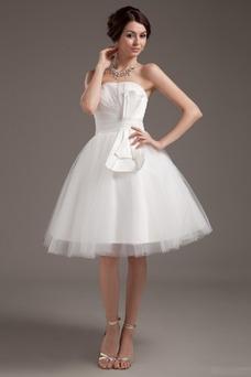 Vestido de novia Romántico Corte princesa Hasta la Rodilla Tallas pequeñas