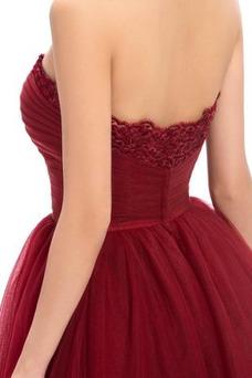 Vestido de cóctel Elegante Hasta la Rodilla Corte-A Natural primavera
