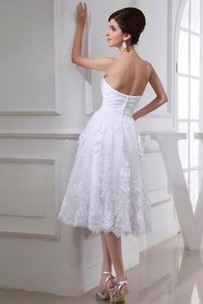 Vestido de novia Sin mangas Natural Fuera de casa Rosetón Acentuado