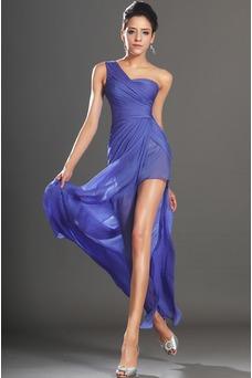Vestido de fiesta Elegante Sin mangas Hasta el suelo Drapeado Lateal