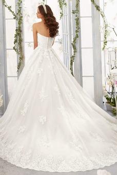 Vestido de novia Encaje Corte-A Sin mangas Natural primavera largo