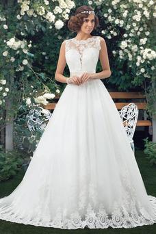 Vestido de novia Clasicos Fajas Sin mangas Natural Espalda medio descubierto