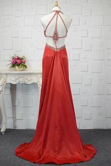Vestido de fiesta primavera Elegante Pera Natural Cristal Satén Elástico