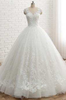 Vestido de novia Natural Espalda Descubierta Satén Sin mangas Fuera de casa