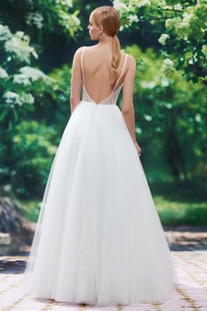Vestido de novia Natural Fuera de casa Corte-A Triángulo Invertido Cola Barriba