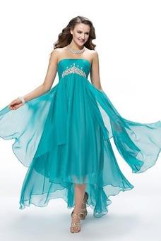 Vestido de fiesta Elegante Gasa Espalda Descubierta Asimètrico Asimétrico Dobladillo