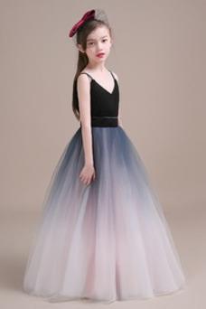 d4936a8f6f6 Vestido niña ceremonia Corte-A Cremallera Blusa plisada Natural Sin mangas  ...