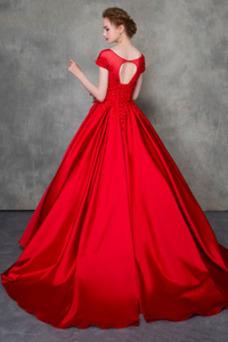 Vestido de novia Corte-A Triángulo Invertido Escote con Hombros caídos