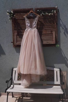 Vestido de novia primavera Fuera de casa Falta sexy Rosetón Acentuado