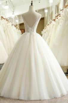 Vestido de novia Iglesia Corte-A Natural Espalda Descubierta Cola Capilla