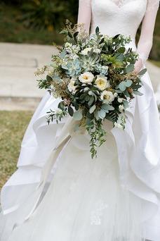 Vestido de novia Barco Natural Escalonado primavera Cola Capilla Pura espalda