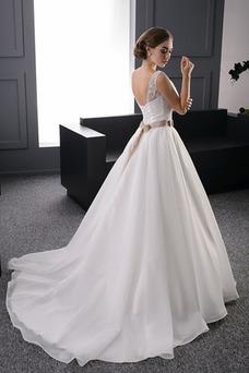 Vestido de novia Cristal Formal Corte princesa Natural Espalda Descubierta