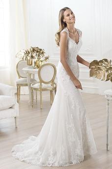 Vestido de novia Clasicos Espalda Descubierta largo Natural Queen Anne
