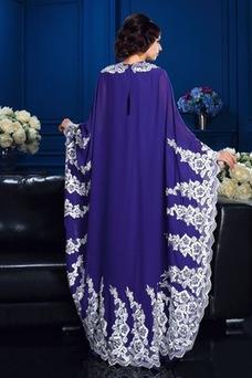 Vestido de madrina Encaje Natural Alto cubierto Manga suelta Hasta el Tobillo