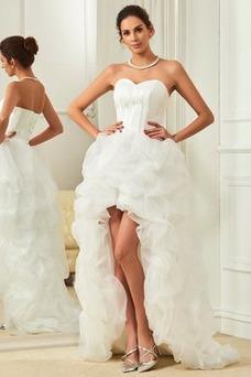 Vestido de novia Elegante Cola Capilla Triángulo Invertido Natural Satén