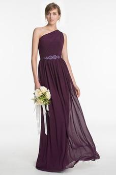 Vestido de dama de honor Espalda medio descubierto Formal Corte-A Drapeado largo