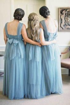 Vestido de dama de honor Corte-A Sencillo Plisado Triángulo Invertido Natural