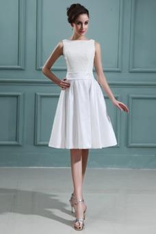 Vestido de novia Playa Oscilación Apliques Natural Corte-A Encaje