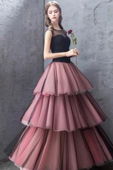Vestido de fiesta Corte-A Oscilación Cordón Joya Hasta el Tobillo Verano