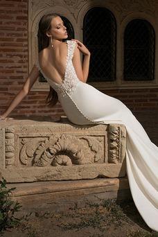Vestido de novia Elegante Corte Sirena Espalda Descubierta Manga tapada