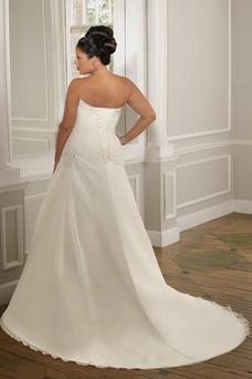 Vestido de novia Corte princesa Cordón Sala Blanco Organza Cintura Baja