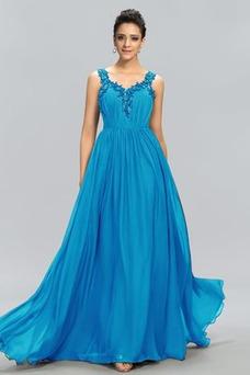 Vestido de noche Espalda Descubierta Corte-A Natural Hasta el suelo