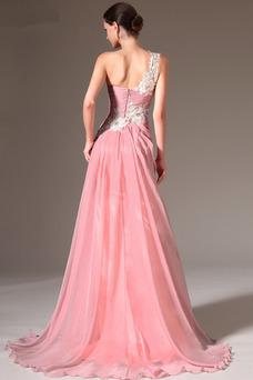 Vestido de noche largo Cremallera Corte-A Natural Elegante Capa de encaje