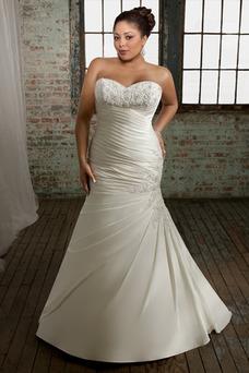 Vestido de novia Sin mangas Cordón Cola Capilla Escote Corazón Organza