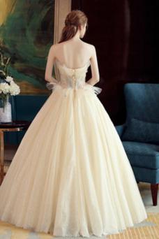 Vestido de novia Sin mangas primavera Corte-A Hasta el suelo tul Apliques