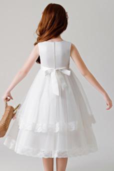 Vestido niña ceremonia Flores Capa Multi Cremallera tul Falta Formal