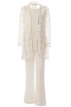 Vestido de madrina Romántico primavera Encaje Tallas grandes Escote redondo