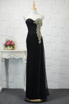Vestido de noche Corte-A Sin mangas Natural Blusa plisada Drapeado Hasta el suelo
