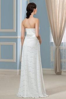 Vestido de novia Playa Moderno Verano Sin mangas Sin tirantes Encaje
