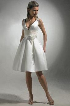 Vestido de novia Corte-A Un tirante con flor Fuera de casa Flores Delgado