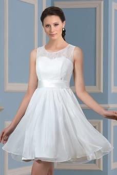 Vestido de novia Playa Drapeado Natural Corte-A Sin mangas Glamouroso