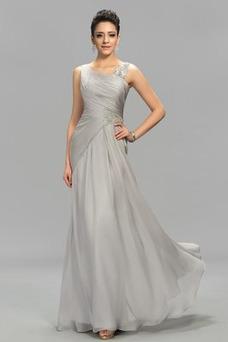 Vestido de noche Elegante Escote Asimètrico Natural Dobladillos Corte-A