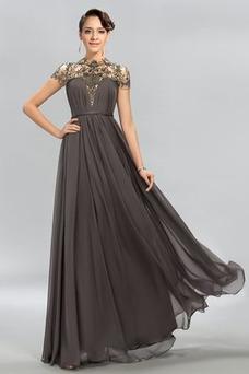 Vestido de noche Arco Acentuado Corte-A Verano Falta Natural Lazos