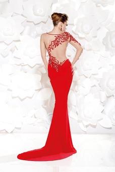 Vestido de noche Corte Sirena Sin cintura Barco Hasta el suelo Asimétrico Estilo