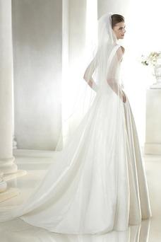 Vestido de novia Con velo Corte-A Cola Capilla Espalda medio descubierto