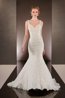 Vestido de novia Natural Escote de Tirantes Espaguetis primavera Espalda Descubierta