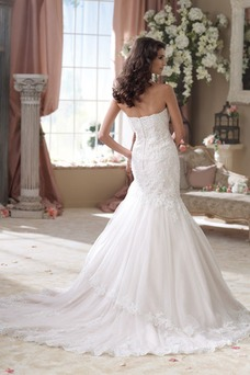 Vestido de novia vendimia Sin tirantes tul Fuera de casa primavera Corte Sirena