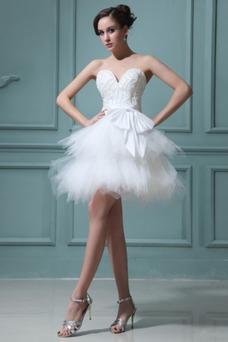 Vestidos de novia Tallas pequeñas Fuera de casa Corto Corte princesa