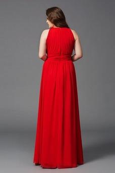 Vestido de noche Corte-A Natural Sin mangas Joya Alto cubierto Triángulo Invertido