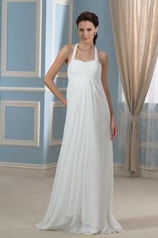 Vestido de novia Sin mangas Hasta el suelo Tallas grandes Drapeado Blusa plisada