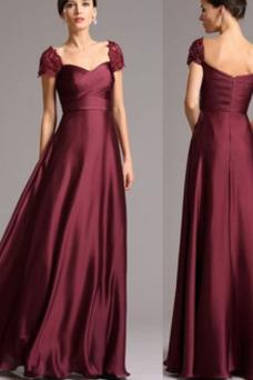 Vestido de noche Invierno Apliques Corte-A Cremallera Natural Blusa plisada