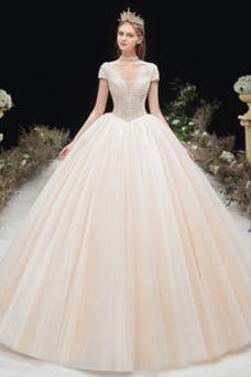 Vestido de novia Formal Cordón Corte-A Escote en V Capa Multi Cola Capilla