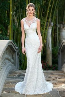 Vestido de novia Corte Sirena Fuera de casa Encaje Natural Espalda Descubierta